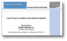 Build a Website business card