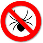 'NoFollow' sign showing crossed-out spider